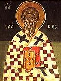 Martyr Blaise of Caesarea, in Cappadocia