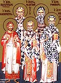 Hieromartyrs Marcellus, Bishop of Sicily, Philagrius, Bishop of Cyprus, and Pancratius, Bishop of Taoromina