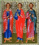 Martyrs Inna, Pinna, and Rimma, disciples of the Apostle Andrew, in Scythia