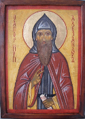 "Saint Alexander, founder of the Monastery of the ""Unsleeping Ones"""