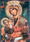 "Icon of the Mother of God the ""Milk-Giver"" of the Hilandar Monastery on Mount Athos"
