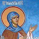 St Eudokia, in Monasticism Euphrosyne, the Grand Duchess of Moscow