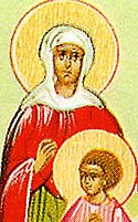 St Anna and Her Son of Constantinople