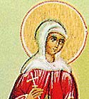 Martyr Aquilina of Byblos in Syria