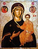 "Icon of the Mother of God ""the Directress"" from the Monastery of Xenophontos on Mt Athos"
