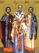 Martyrs Zeno and his servant, Zenas, of Philadelphia