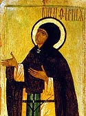 Saint Febronia (tonsured Euphrosyne), Wonderworker of Murom