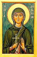 Martyr Antonina of Nicea, in Bithynia