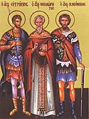 Martyrs Eutropius, Cleonicus, and Basiliscus of Amasea