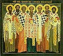 The Holy Hieromartyrs of Cherson: Basil, Ephraim, Capito, Eugene, Aetherius, Elpidius, and Agathodorus