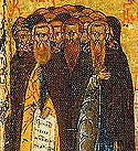 Martyred Holy Fathers who were slain at the Monastery of St Sabbas