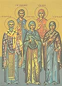 Martyrs Sebastian the Duke and Theoklitos