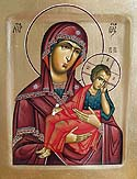 "Icon of the Mother of God ""Staro Rus"" Old Russian"