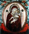 "Icon of the Mother of God ""Virgin of Tenderness"" from the Pskov Caves"