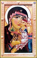 "Icon of the Mother of God ""You are a Vineyard"" (Georgian: Shen khar venakhi)"