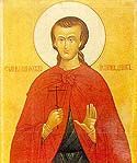 Saint John the Russian and Confessor, whose relics are on the island of Euboia