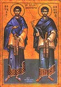 Holy Wonderworkers and Unmercenaries Cosmas and Damian of Mesopotamia