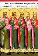 Martyrs Acindynus, Pegasius, Aphthonius, Elpidephorus, Anempodistus, and 7,000 with them, of Persia