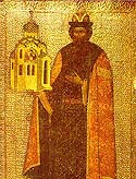 Uncovering of the relics of St Vsevolod (Gabriel) of Pskov