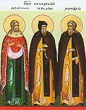 Venerable Damian the Healer, Jeremiah, and Matthew, Clairvoyants, of the Kiev Caves