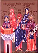 Martyrs Callista and her brothers, Evodius and Hermogenes, at Nicomedia