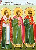 Hieromartyr Anthimus, Bishop of Nicomedia and those with him
