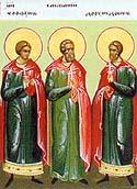 Martyrs Trophimus, Sabbatius, and Dorymedon of Synnada